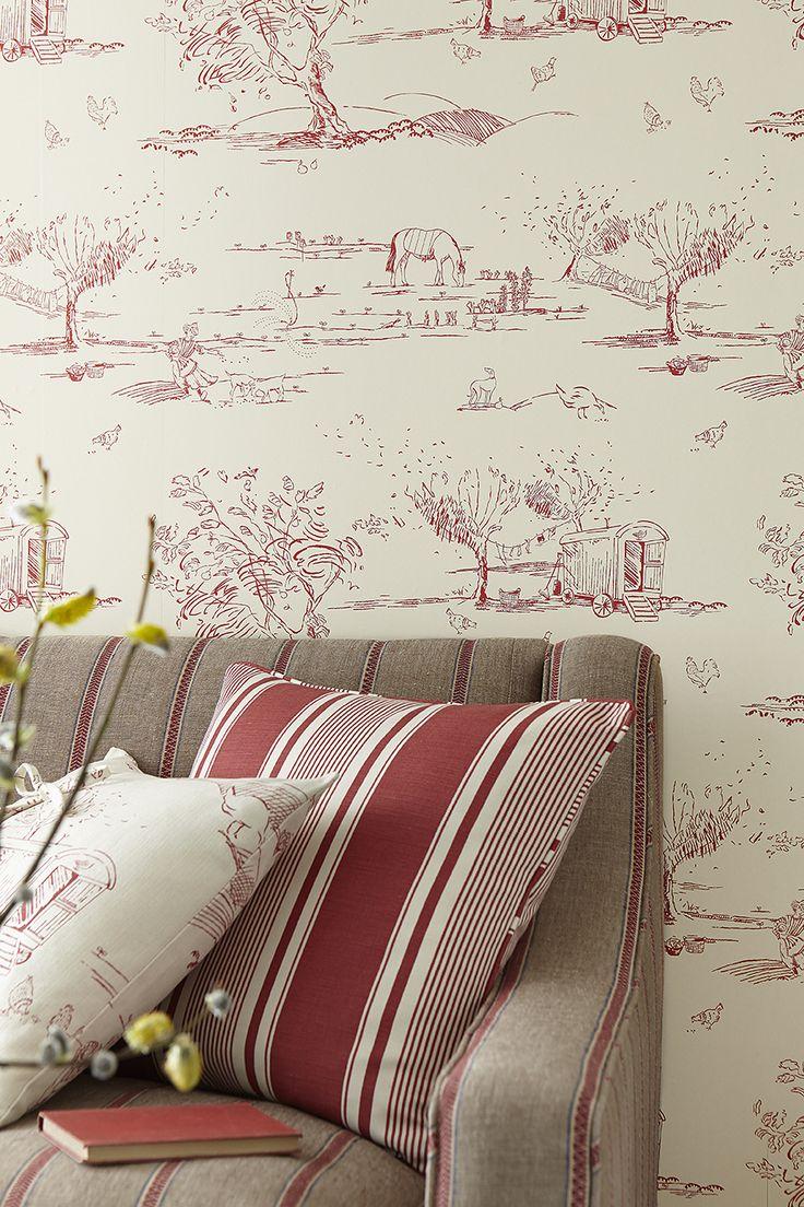 For the Love of Rose - Wallpaper - Raspberry | Vanessa Arbuthnott