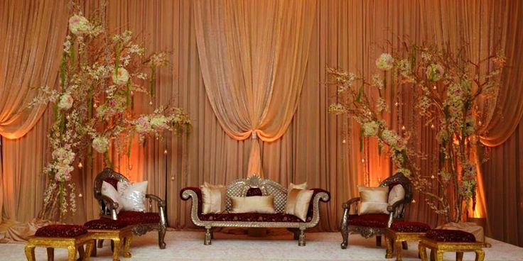 Muslim wedding stage decoration http for Arabic stage decoration