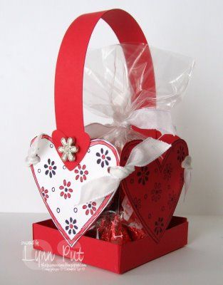 4 Heart Basket tutorial cute for Valentines treats for the teacher