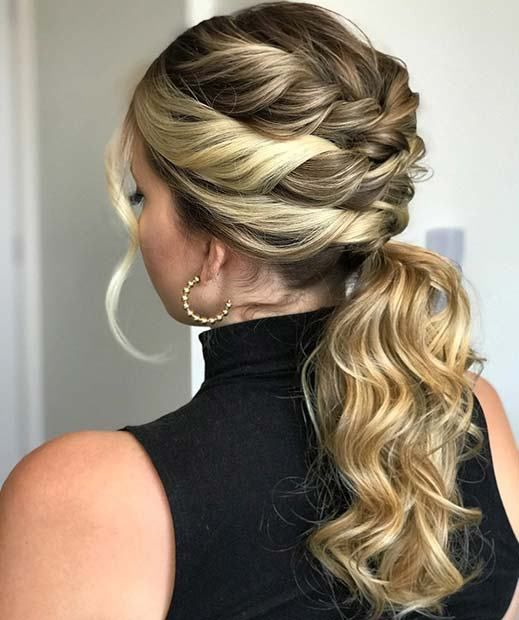 23 Stunning Prom Hair Ideas for 2018: #20. STYLISH PONYTAIL WITH TWISTS; #prom; #promhair; #ponytail