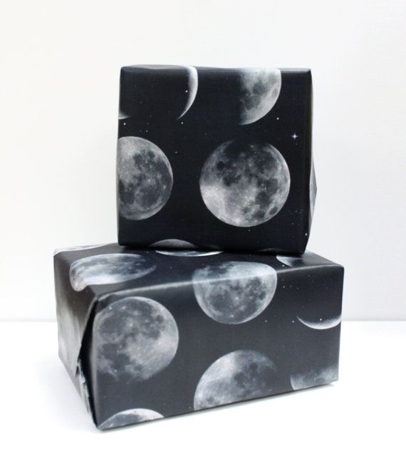 Moon Phrases Wrapping Paper Sheets by SubloadTravellers on Etsy, $12.90