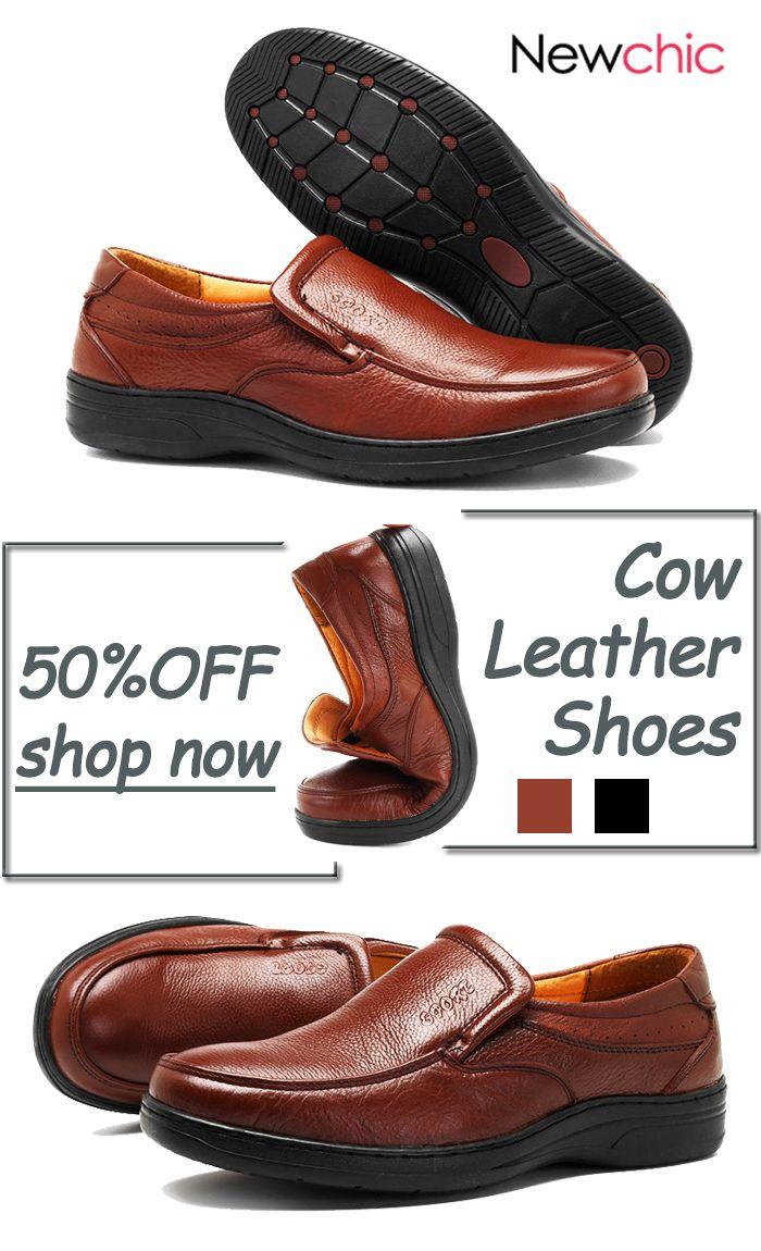 4a3466495e9 Men Cow Leather Slip On Wear-resistant Casual Shoes | Men Shoes ...