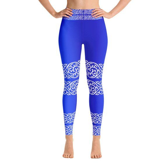 99dc23e60bc86 image 0 Yoga Capris, Yoga Leggings, Yoga Pants, Blue Leggings, Capri  Leggings