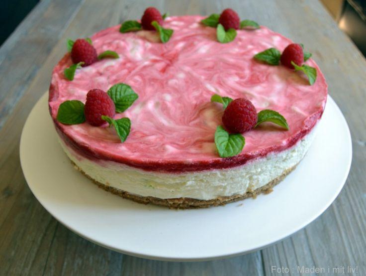hindbær cheesecake med lime
