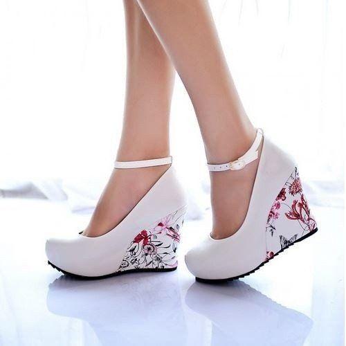 Women Platform High Heels Wedge Sandals Buckle Slope Elegant de Mujer Dress Elegant With Arch Support New