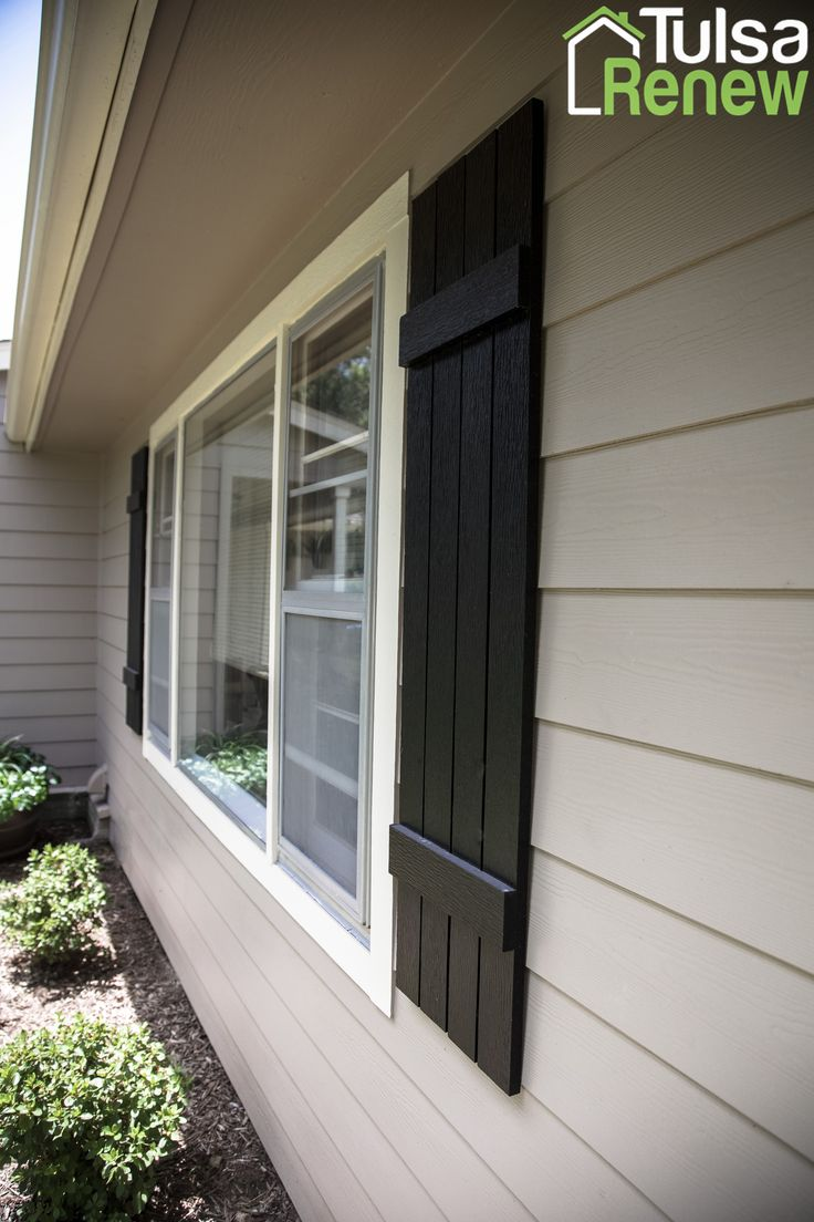 James Hardie Shutters With Sherwin Williams Tricorn Black
