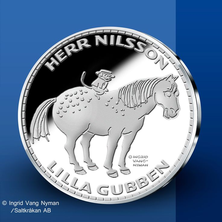 Herr Nilsson & Lilla Gubben - Pippi Långstrump Silvermedaljer