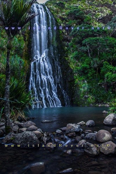Karekare Falls in New Zealand