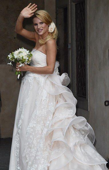 L'abito da sposa di Michelle Hunziker dream weddind dress long lace white