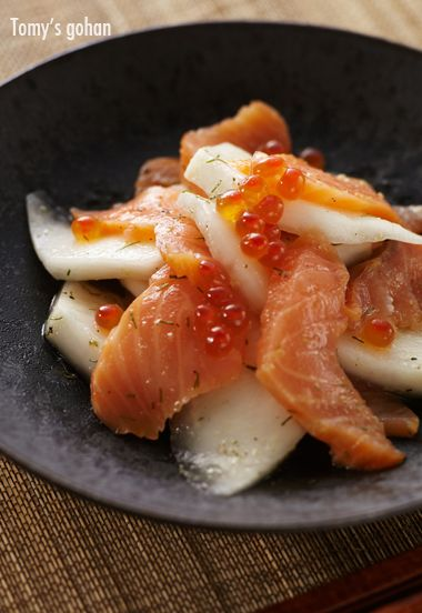 Salmon and Turnip with Yuzu Dressing サーモンと蕪のマリネ