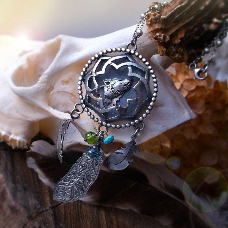 The Wolf- Dreamcatcher Necklace
