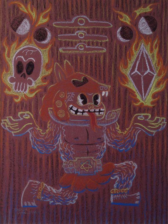 Shaman of Omebu  A primitive wizard by FelinoStudio on Etsy