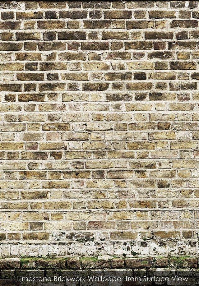 Limestone Brickwork Wallpaper From Surface View