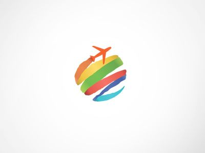 eBooking Travel Logo Template by Web Design Label