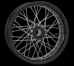 Image of Performance Machine Rear Spoked Wheel Black Ops 18in x 5.5in - Harley Davidson FLTR FLHT FLHR wo ABS 09 and Newer - 02040395