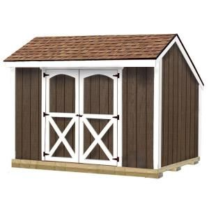 Best Barns, Aspen 8 ft. x 10 ft. Wood Shed Kit with Floor including 4x4 Runners, aspen_810df at The Home Depot - Mobile
