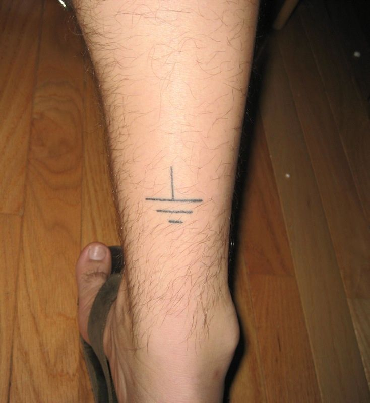 to be grounded....would be nice on my ankle...with ohms law on the other side