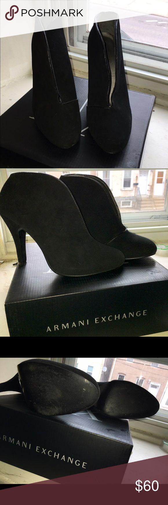 Armani exchange heels Worn twice. In excellent condition Armani Exchange Shoes Heels