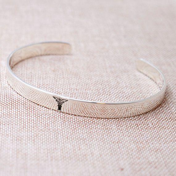 Sterling Silver Medical ID Bracelet  by FutureHeirloomDesign