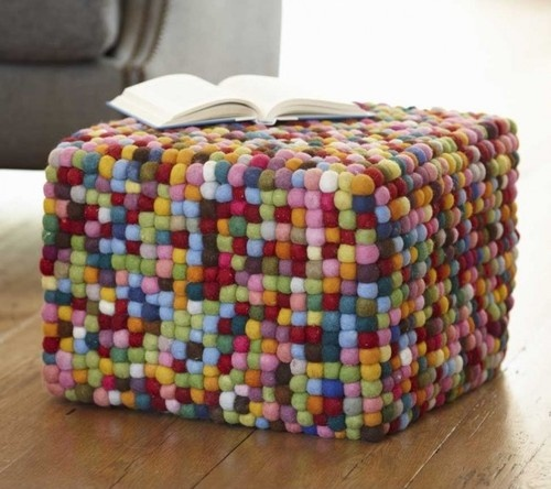 How cute is this foot stool - Puffball Pouf eclectic ottomans and cubes
