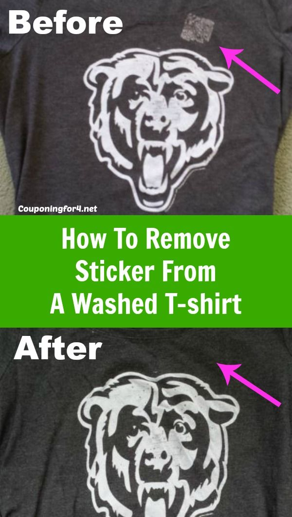 Don't throw that shirt away - save it! Many parents know the pain of pulling a piece of clean clothing out of the dryer only to find that you've left a sticker on your shirt before washing it. Here's the solution to getting your clothes back the way they were meant to be - without the sticker residue!