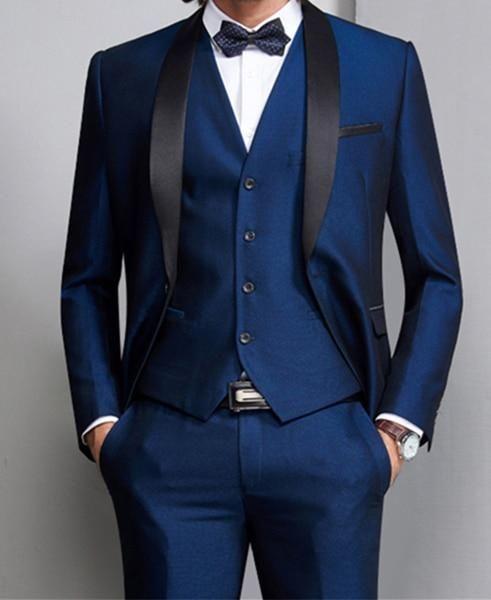 d89532019609 Men Suit Formal Skinny Wedding Blazer Prom Gentle Groom Custom Jacket 3  Pieces