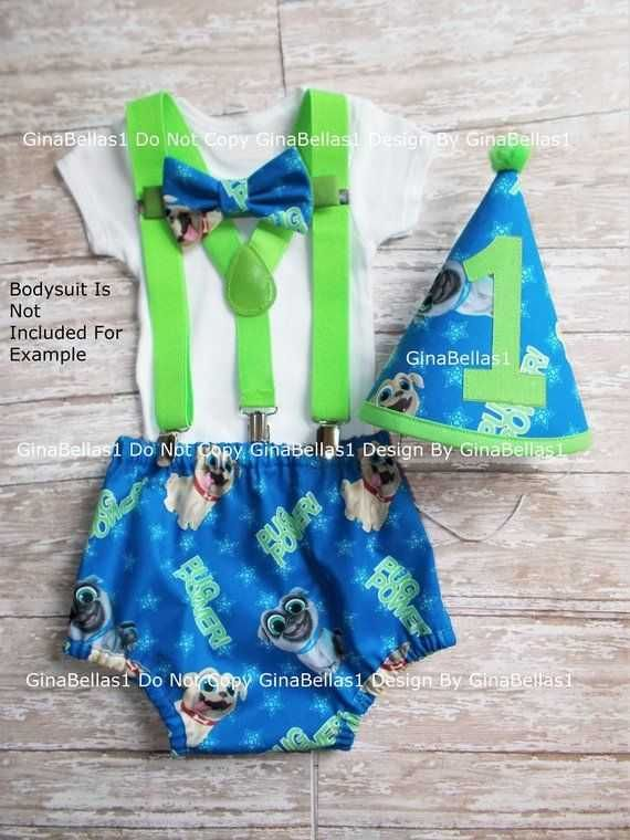 Puppy Dog Pals Birthday Outfit Cake Smash Hat 1st Party Diaper Cover New Of Baby