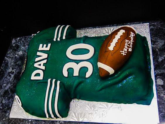 Football Jersey Cake | Oregon Dairy Bakery #421 tags: eagles, team, nfl, dave, philadelphia