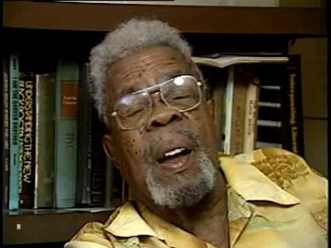 """Interview with notable African-American poet and journalist Frank Marshall Davis. Frank is mentioned in Barak Obamas """"Dreams From My Father"""", as a drinking buddy of his grandfather and an African American that made an impression on the now President as a young man growing up in Hawaii. The Film & Media Archive partnered with the Center for Labor..."""