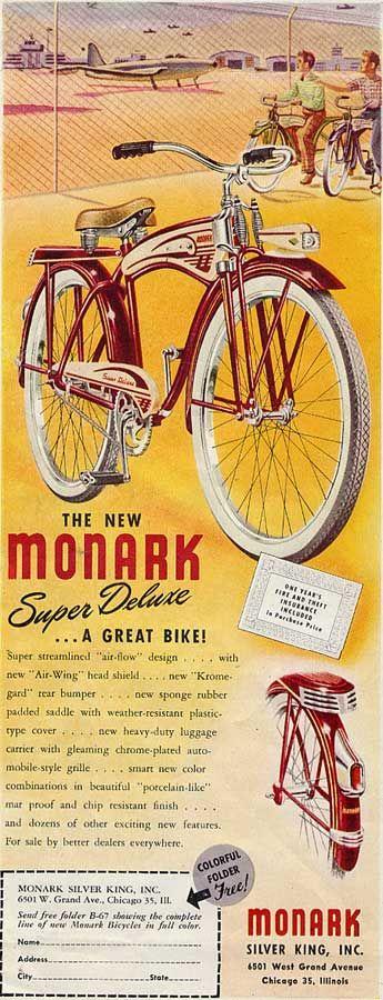 Monark Super Deluxe Bicycle 1940s...the SilverKing is back...  Hello Janilo Navaja!!