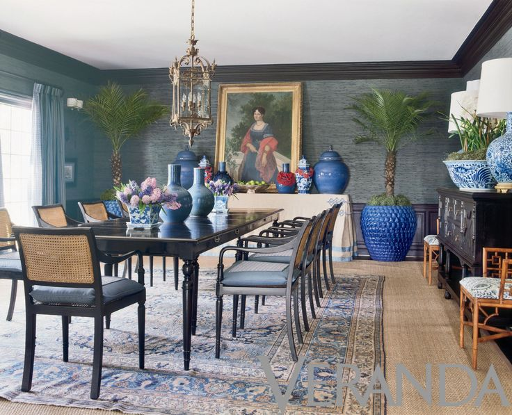 matt camron rugs tapestries here designer mary mcdonald opts for tabriz over seagrass in a dining room photo from the october 2010 veranda - Veranda Dining Rooms