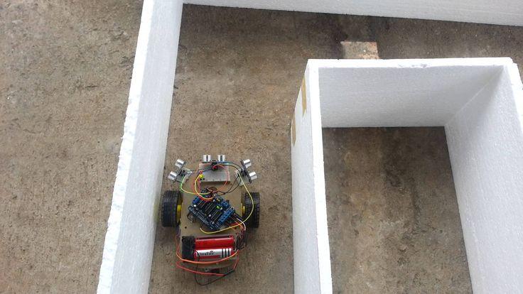 Autonomous arduino car maze solving with ultrasonic