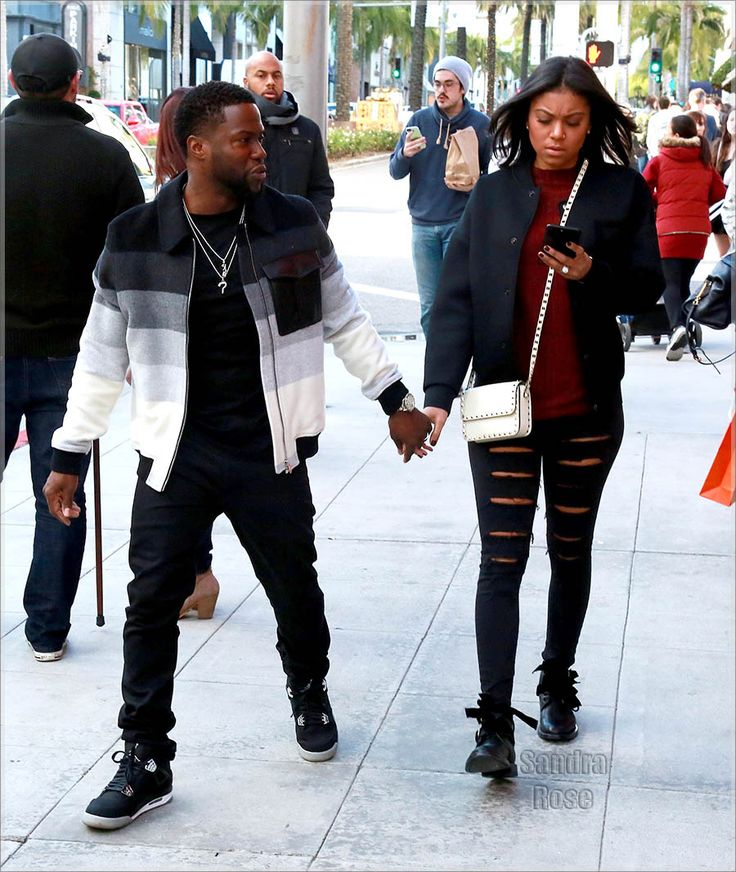 Kevin Hart and Eniko Parrish in Beverly Hills