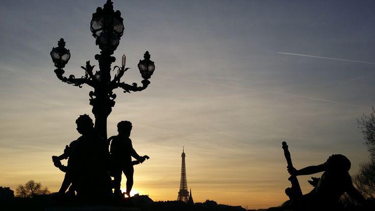 Pont Alexandre III, Tour Eiffel, jeudi 21 janvier 2016, 17h03