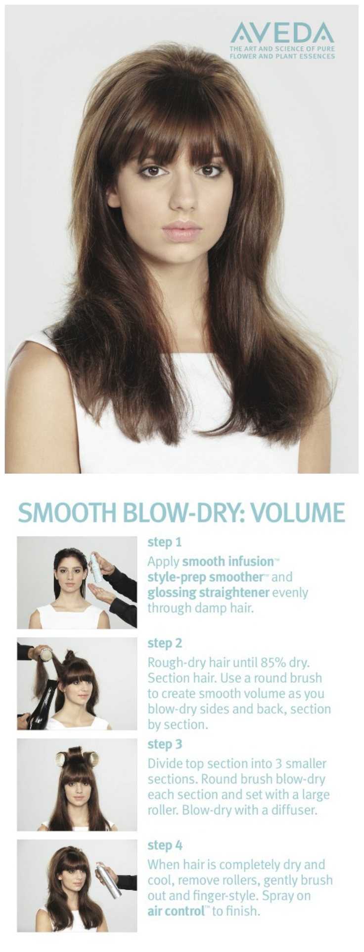 HowTo: Smooth and Volumize Hair with a Blow Dry - Aveda
