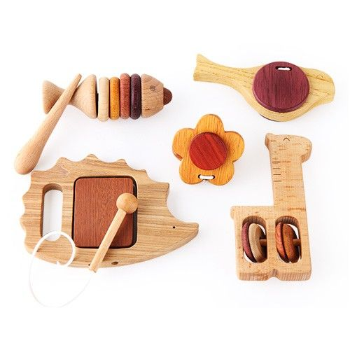Eco Wooden 5 Piece Musical Instrument Set Maybe A Baby