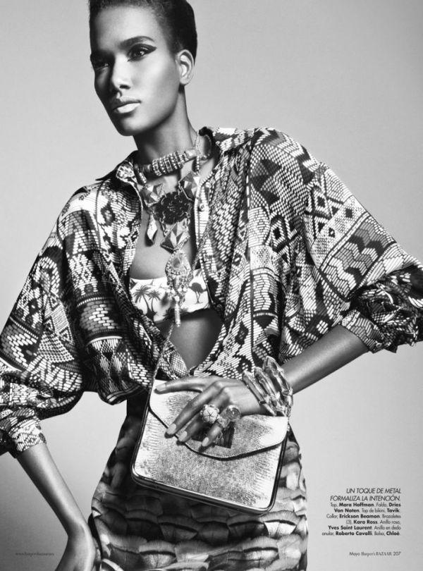 Arlenis Sosa for Harper's Bazaar Mexico May 2012