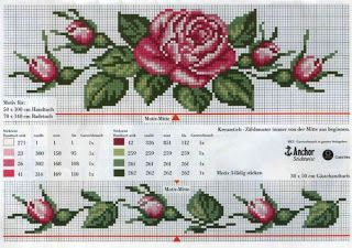 rose flower cross stitch for rida