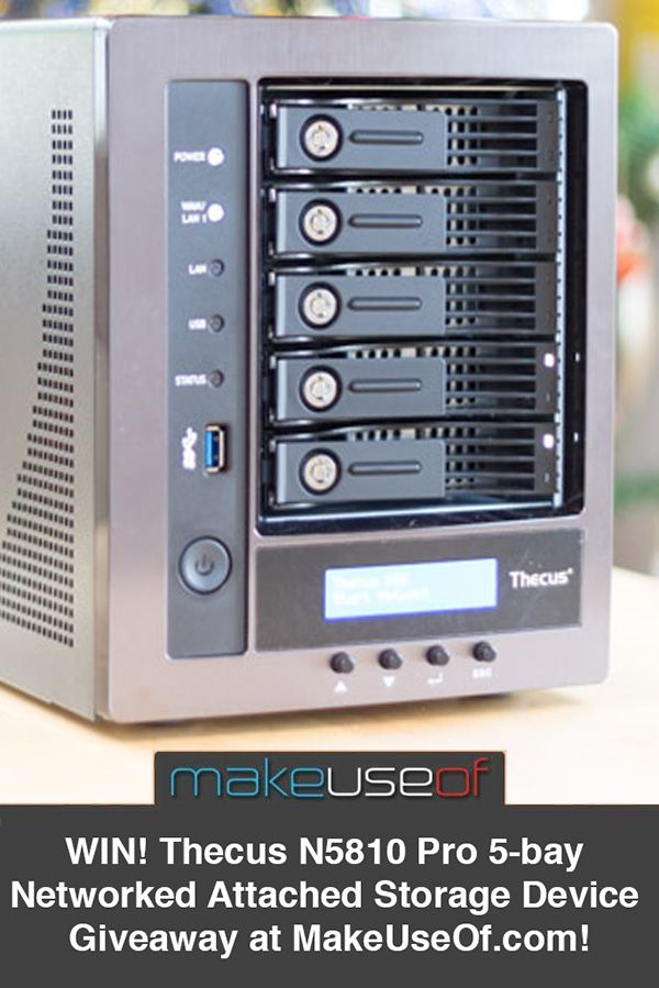 Running out drive space? Enter win this fantastic 5-bay Thecus N5810 Pro NAS for all your netwokred storage and backup needs!