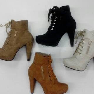 Botines De Dama, Moda Colombiana Moda 2014-2015 - BsF 3.900,00 en MercadoLibre