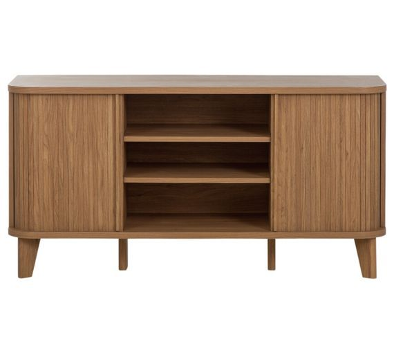 Buy Hygena Jabara 2 Door Low Sideboard/TV Unit - Oak Effect at Argos.co.uk, visit Argos.co.uk to shop online for Sideboards and dressers, Living room furniture, Home and garden
