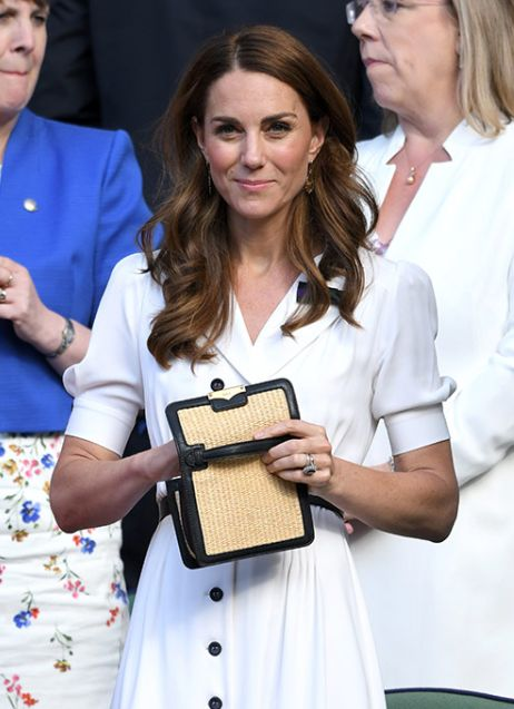 Kate Middleton Makes Surprise Appearance at Wimbledon in White Summer Dress