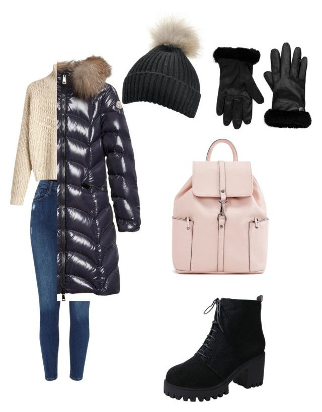 """ready for winter"" by kehichabelle on Polyvore featuring Moncler and UGG"