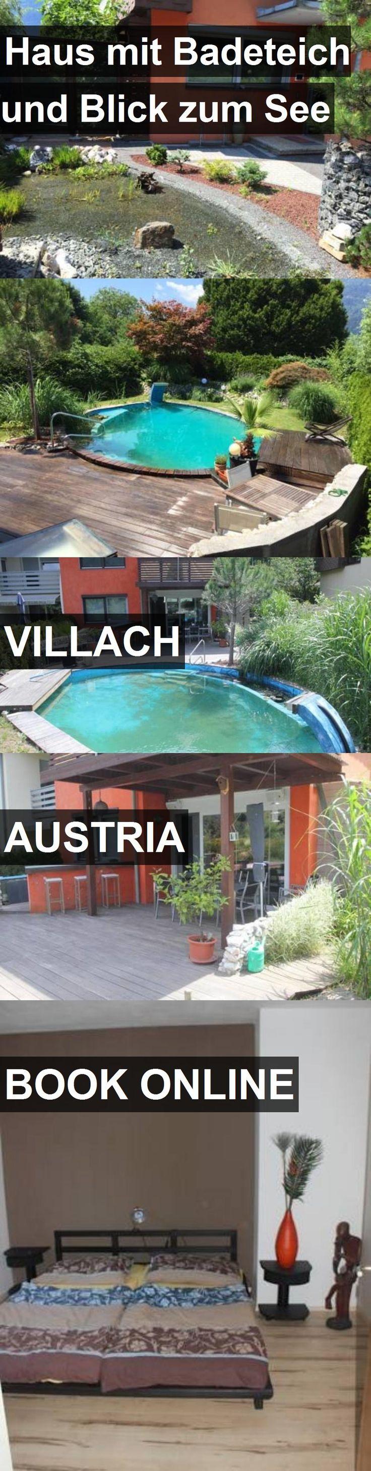 Hotel Haus mit Badeteich und Blick zum See in Villach, Austria. For more information, photos, reviews and best prices please follow the link. #Austria #Villach #travel #vacation #hotel