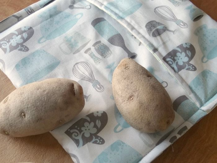 How to sew a microwave potato bag
