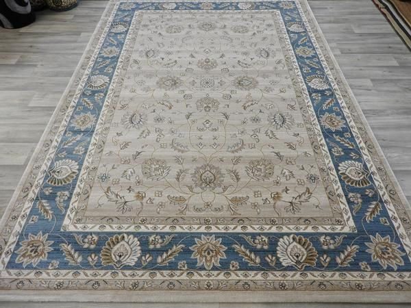Pale Blue Traditional Turkish Rug Size: 160 x 230cm
