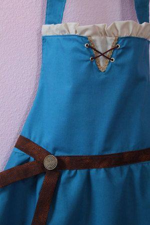 Brave Merida inspired dress up apron princess by ThreeDutchDivas