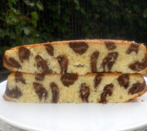 Torta leopardo - Leopard print cake inside ~ Pasteles de colores