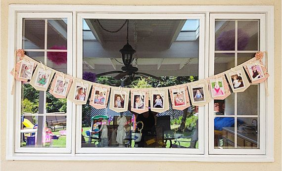 First Year Birthday Photo Banner / Fabric Photo by madglamapparel, $95.00
