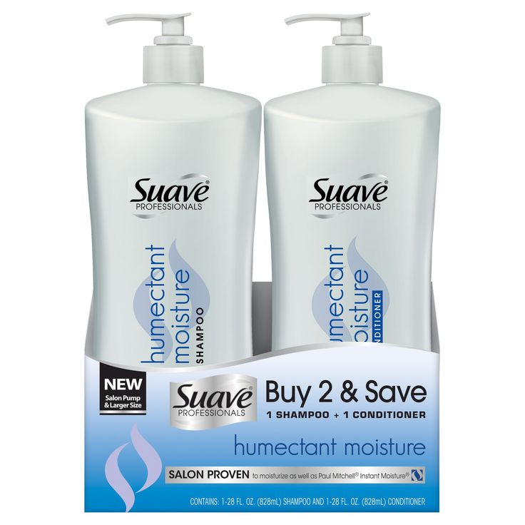 Suave Professionals Humectant Moisture Shampoo and Conditioner - 28oz, Pack of 2